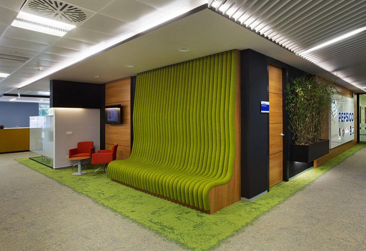 Bekleme alanları için dekoratif oturma sistemleri